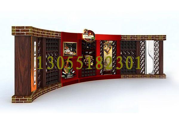 ..酒柜图片 红酒柜样板图 湖南展柜红酒展示柜欧式红酒柜 -欧式红酒