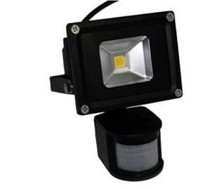 供应LED人体红外线感应灯10W,LED感应泛光灯10W白光