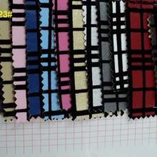 供应植绒格子皮革软包装饰皮革面料