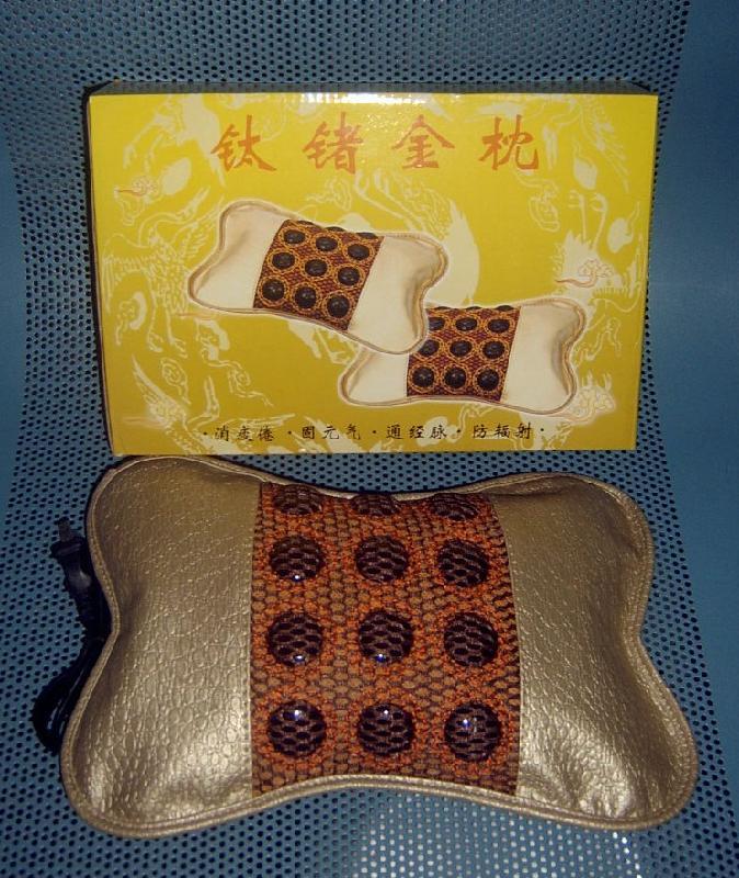 供应远红外线加热枕安神枕,第二代钛锗金枕,充电式钛锗磁保健金枕