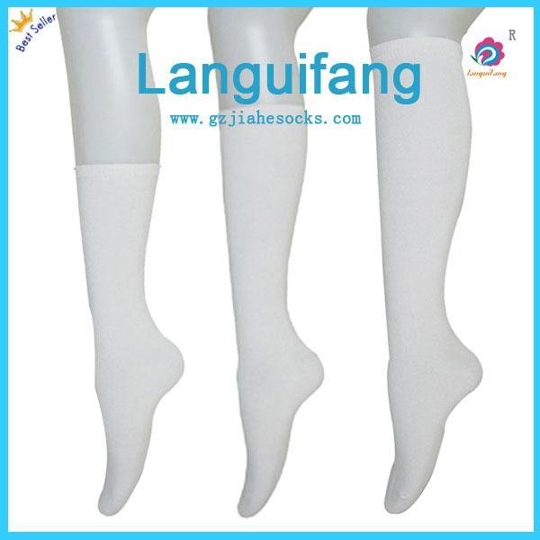 白色长筒学生袜销售