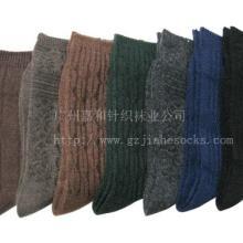 供应新款外贸羊毛袜批发男女士中筒提花羊毛袜批发