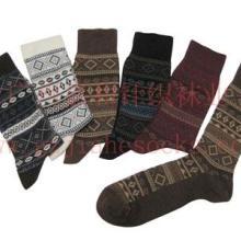 供應廣州襪子廠家雙色雙路情侶提花襪圖片