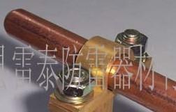供应铜包钢接地棒连接电线线夹,接地铜夹子,接地棒铜夹子