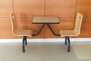 供应快餐厅桌椅快餐桌防火板餐桌快餐厅桌子-深