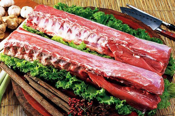 上海金锣猪大排放心肉排骨大专业食品安全国外大学猪肉图片