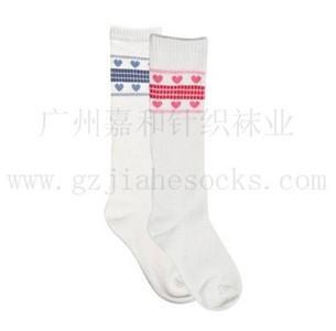 长筒童袜间条童袜全棉童袜销售