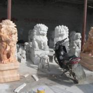 五常市汉白玉狮子雕塑/大象石像雕图片