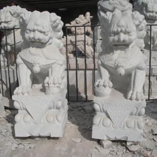 邯郸市汉白玉石狮雕塑/动物塑像厂图片