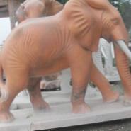 双辽市晚霞红大象雕塑/汉白玉大象图片