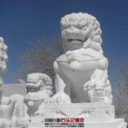 滁州市汉白玉石狮雕塑/石狮子石雕/图片