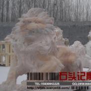 德州市晚霞红石狮雕塑/汉白玉石狮图片