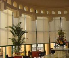 办公室电动窗帘遮阳帘图片/办公室电动窗帘遮阳帘样板图 (1)
