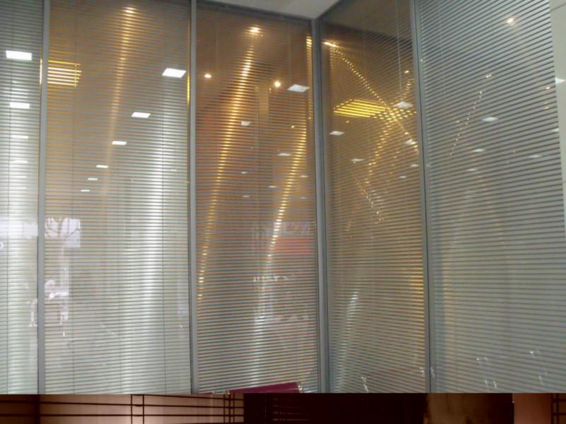 重庆玻璃隔断双玻百叶隔断墙单玻墙图片