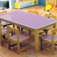 进口重庆幼儿实木六人桌销售图片