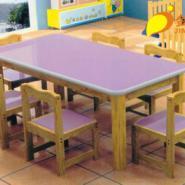 进口重庆幼儿实木六人桌图片