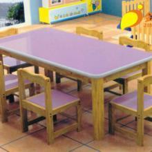 供应重庆儿童家具进口实木六人桌批发