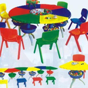 幼儿园多变课桌-特大豪华拼搭宝贝图片