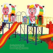 幼儿园玻璃纲组合滑梯图片