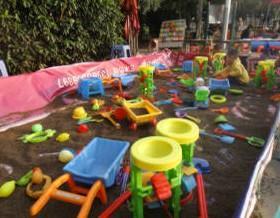 重庆决明子沙滩玩具充气沙池图片