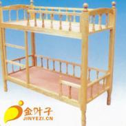 幼儿双层实木床图片