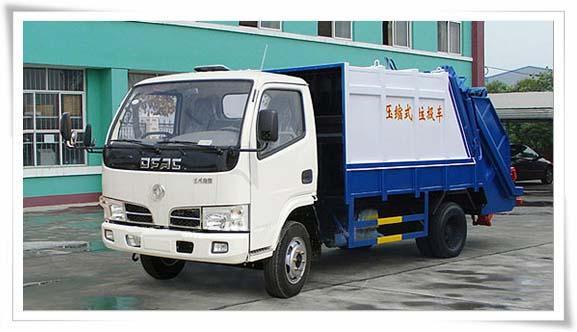 供应东风金霸4方压缩式垃圾车图片