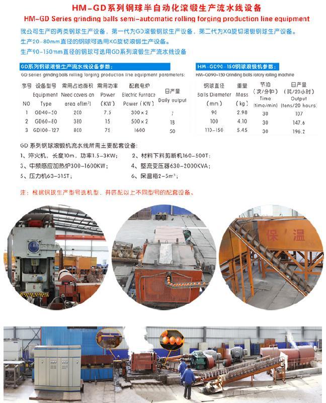 供应高效耐磨钢球滚锻生产流水线50mm