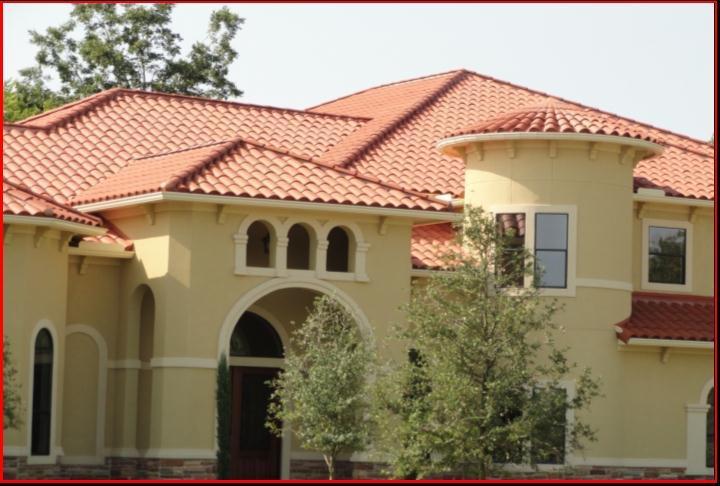 红瓦的别墅用什么样的外墙砖比较好看呢?-房顶红瓦 ...