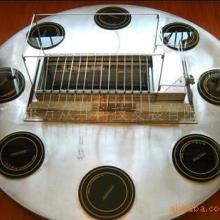 供应8人自助涮锅电磁炉烧烤桌图片