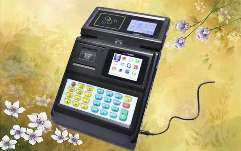 刷卡机图片 刷卡机样板图 CL M406新款智能饭堂刷卡机厂...