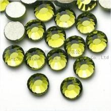 供应ss8(2.5mm)橄榄绿国A平底钻手机贴钻14切仿奥钻批发