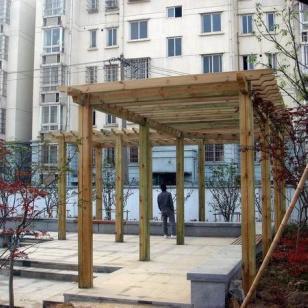 苏州防腐木户外景观花架供应商图片