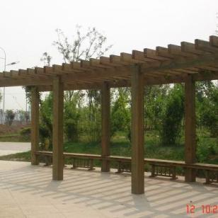苏州弧形花架廊架图片