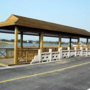优质防腐木木结构花架批发苏州中瑞图片