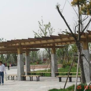 苏州防腐木廊架安装报价图片