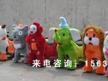 供应豪华款毛绒动物电动动物毛绒电瓶车郑州毛绒玩具车奥特曼气模车图片