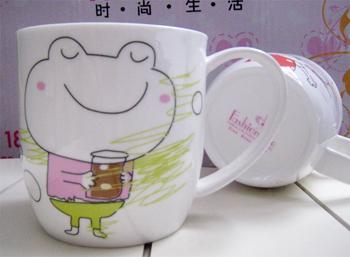 礼品杯图礼品杯样板图骨质瓷礼品杯卡通简笔画