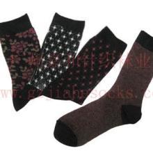 供应无骨高端双针双路运动款男士袜子图片