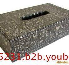 供应埃及人皮革纸巾盒车用纸巾盒批发