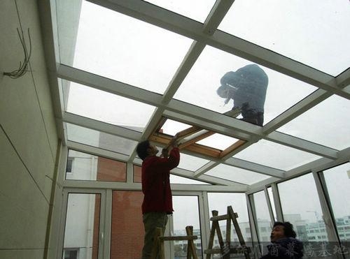 供应隔热彩钢板塑钢露台阳光房