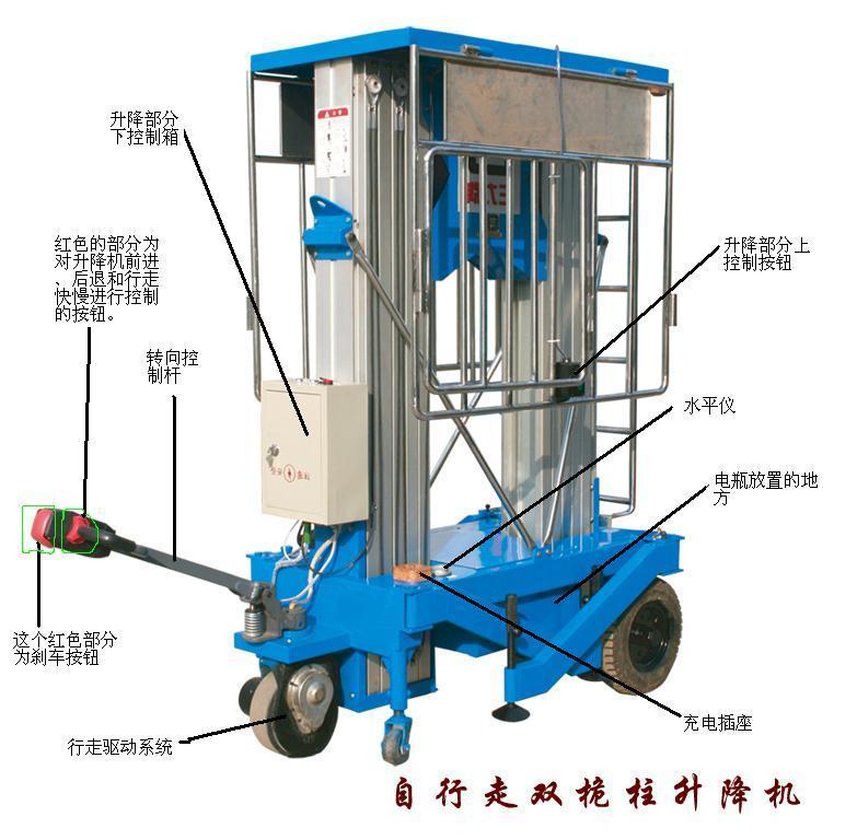 亚泰自行走液压升降机图片图片