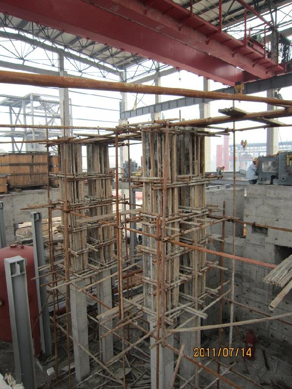 固之源建材公司指导郑州学校加固乳胶水泥湿式外包钢施工工艺