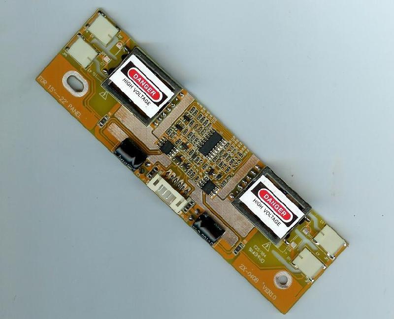 供应液晶高压板 液晶显示器高压板 四灯小口黄板高压条四灯液晶高压条