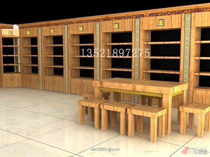 供应茶叶店的展柜设计和效果图; 茶叶店货架; 普洱茶店-室内图片