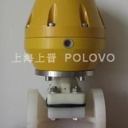 供应PVDF氣動法蘭隔膜閥进口PVDF氣動隔膜閥法蘭隔膜閥