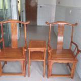 吉林明清家具供应商电话官帽椅非洲花梨木三件套椅子大果紫檀官帽椅厂家批发生产办公椅子家具