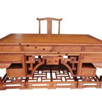上海东阳木雕厂家出售红木办公桌