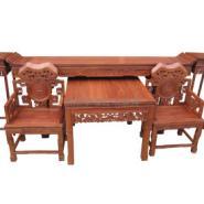 郑州红木家具中堂六件套批发生产图片