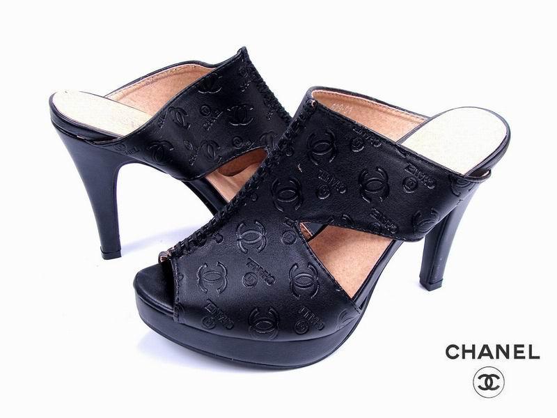 chanel夏季高跟鱼嘴凉鞋