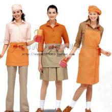 供应咖啡厅工作服-咖啡厅酒店制服-咖啡厅服务员服装订做批发